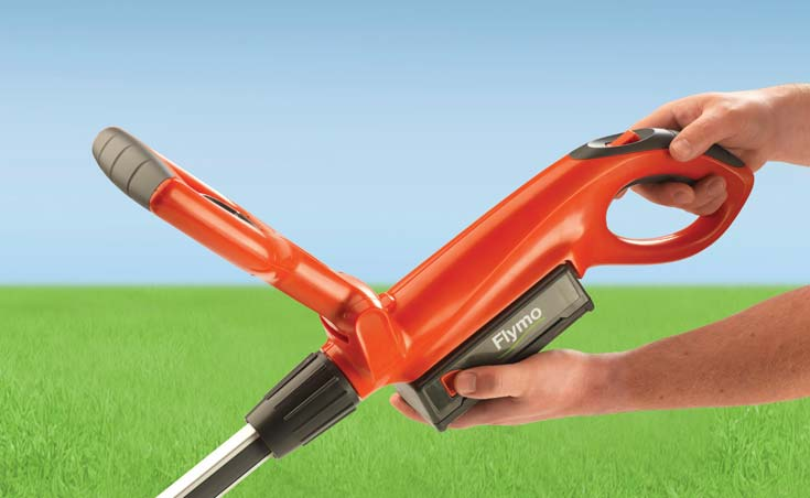 Cordless battery powered grass trimmers