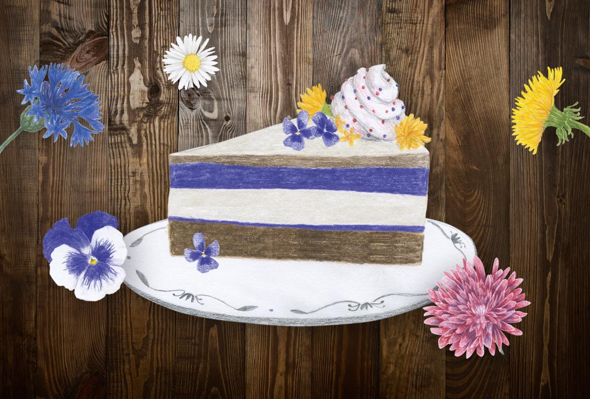 city gardening recipe flower power cake