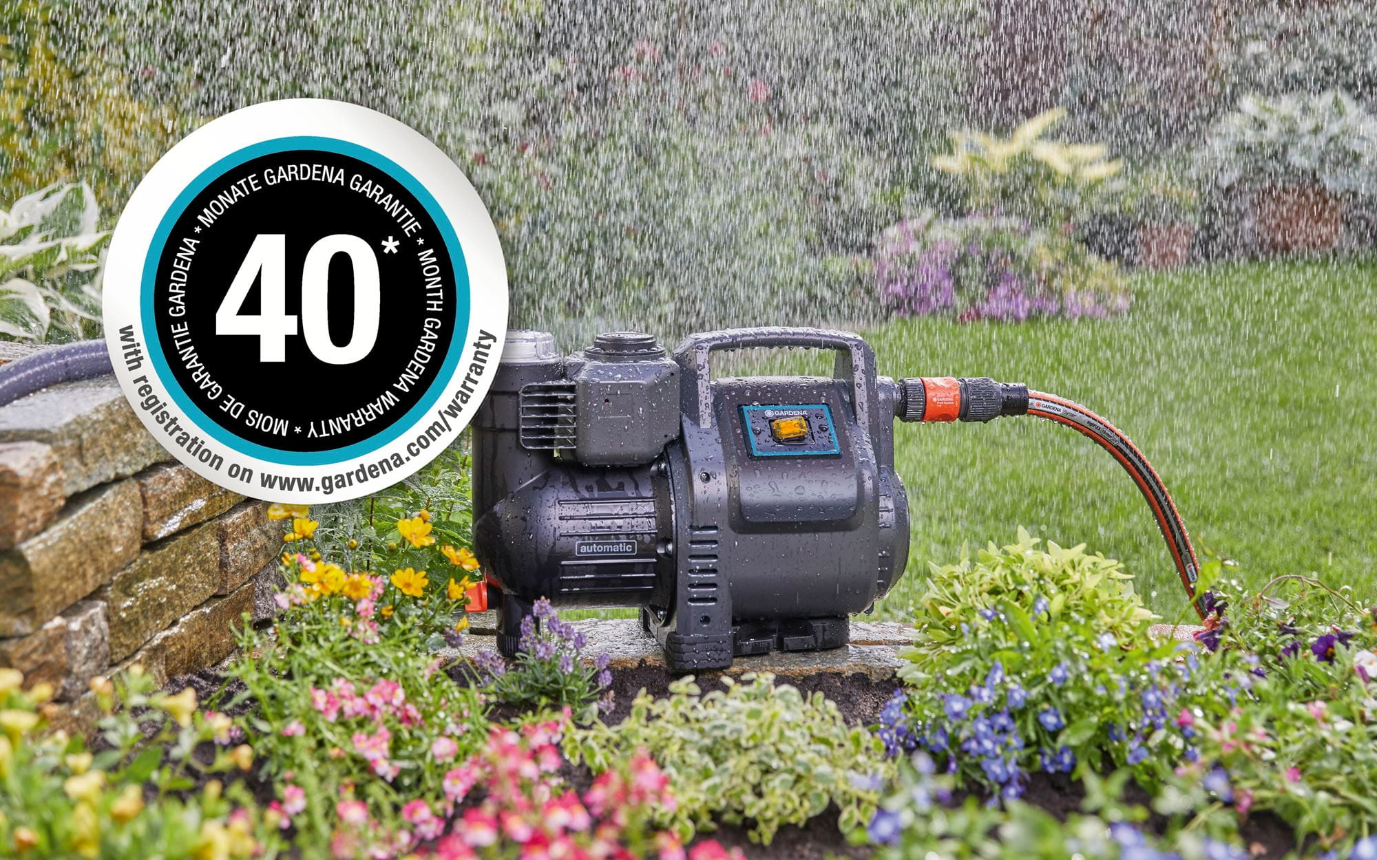 GARDENA - 40 months of warranty for pumps