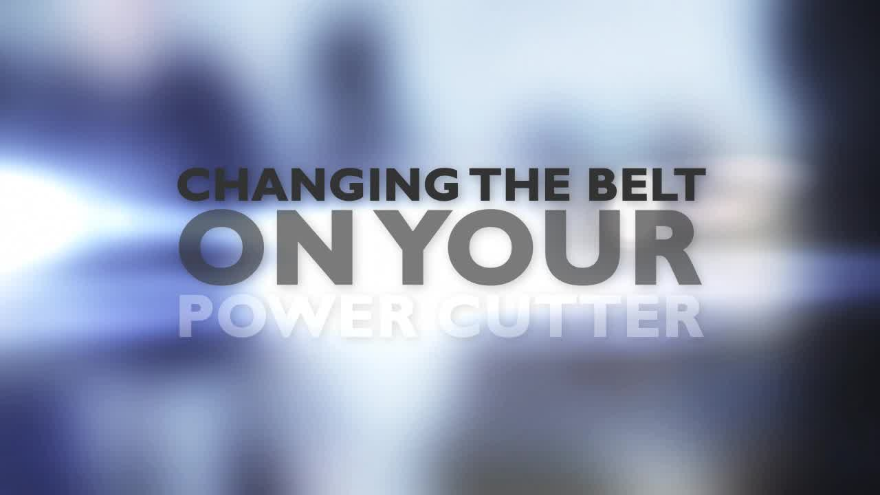 Changing the belt on you power cutter