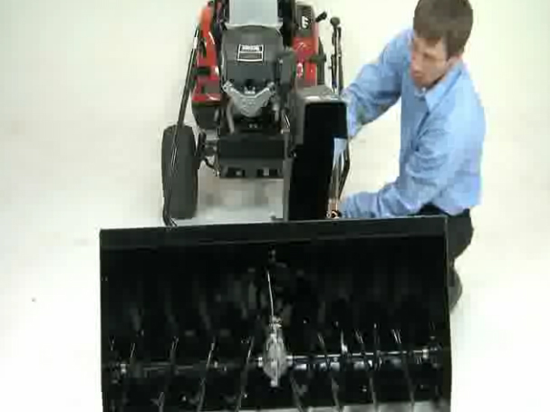 YTH tractor - how to attach snow thrower
