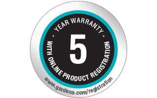 Image result for gardena 5 year warranty