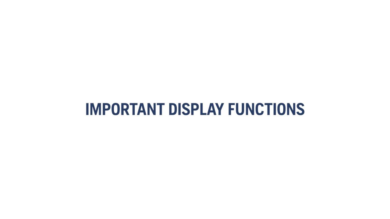 How does the display work (R 300-series)