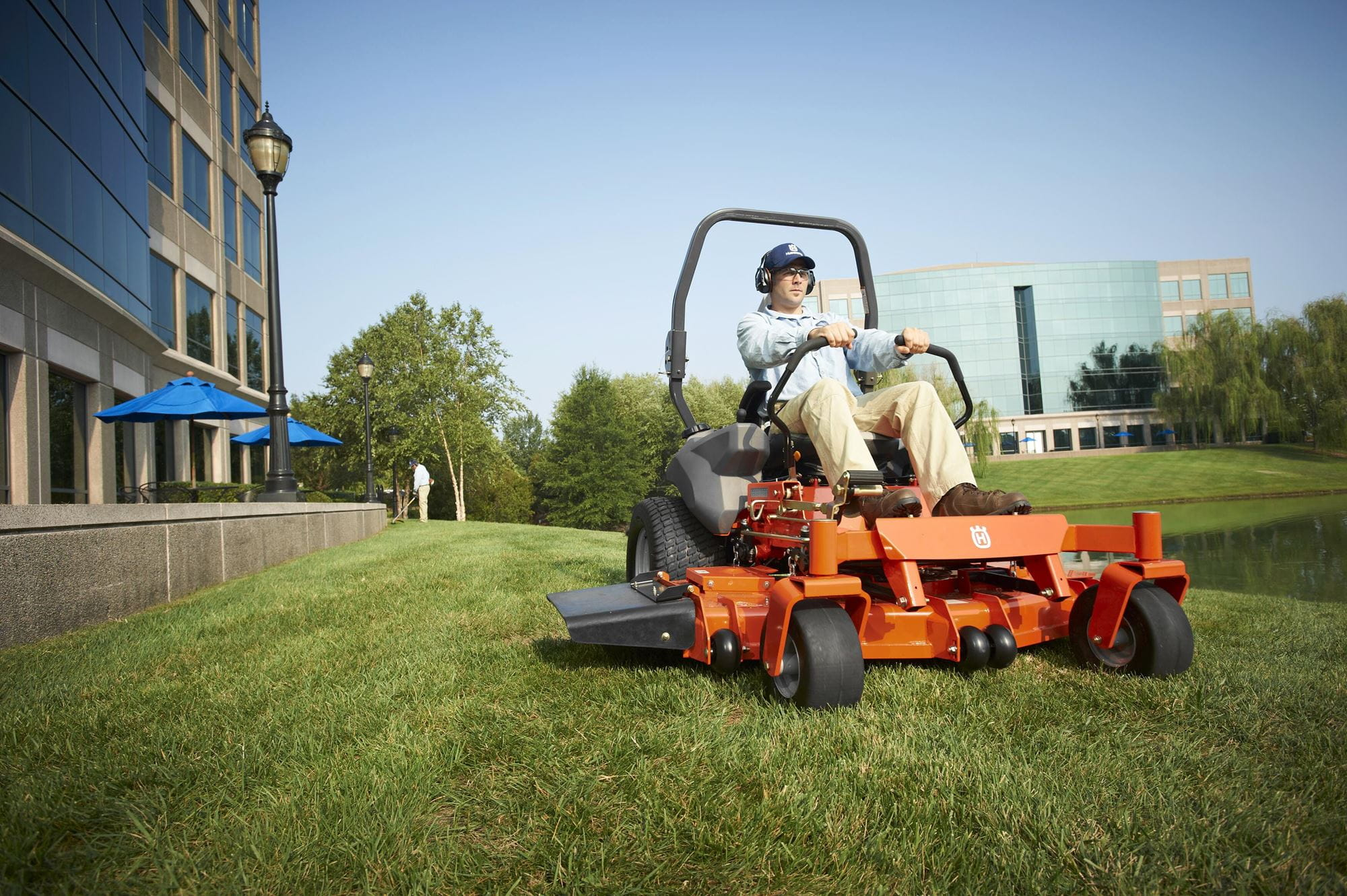 Husqvarna Zero-Turn Mowers are durable, with a large steel tube chassis and powerful engines