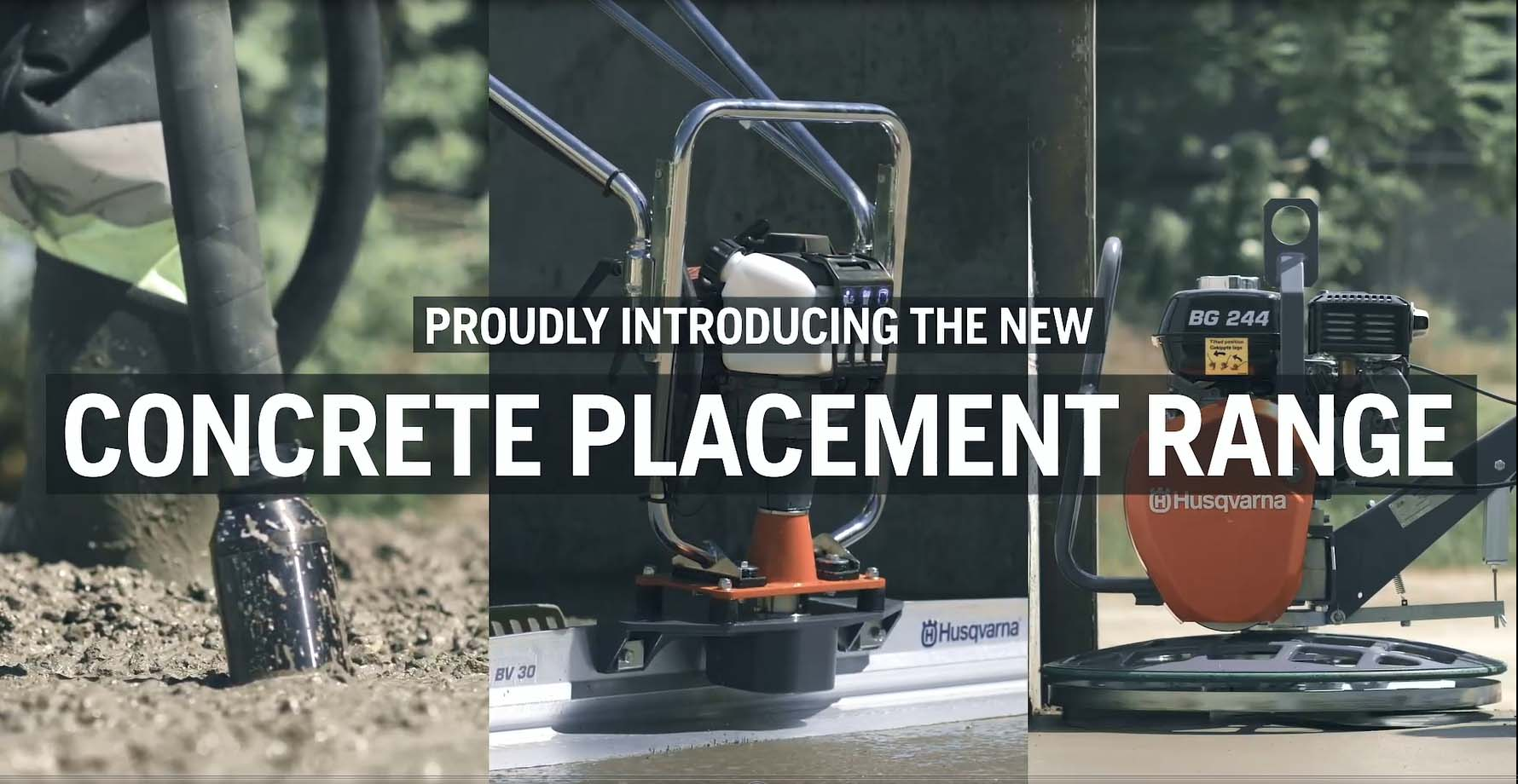 Concrete placement equipment product range film