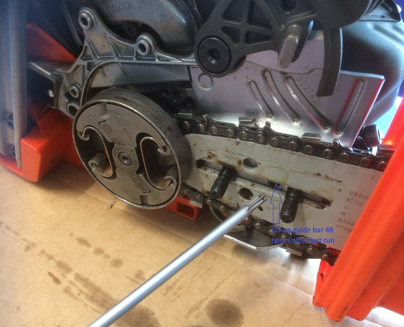 Chainsaw To Leak Bar And Chain Oil